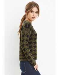 Forever 21 - Green Houndstooth-patterned Sweater - Lyst