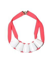 Marion Vidal | Pink Fluro Ceramic Necklace | Lyst