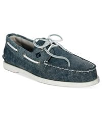 sperry top sider s a o white cap canvas boat shoes in