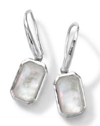 Ippolita | White Rectangle Clear Quartz & Mother-Of-Pearl Earrings | Lyst