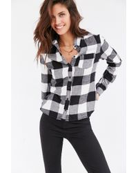 BDG | Black Katie Flannel Button-down Shirt | Lyst
