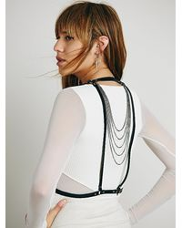 Free People | Black Cascade Wrap Harness | Lyst