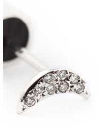 Ileana Makri - Black Diamond Crescent Earrings - Lyst