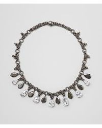 Bottega Veneta - Metallic Naturale Silver And Stones Necklace - Lyst