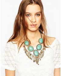 ALDO | Blue Calcite Turqiouse Stone Necklace | Lyst