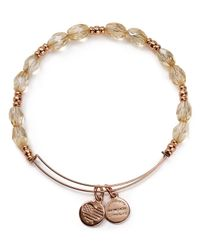 ALEX AND ANI | Metallic Champagne Bubbles Rose Gold Tone Wire Bangle - Bloomingdale's Exclusive | Lyst
