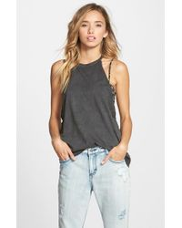 RVCA | Black 'mandate' High Neck Tank | Lyst