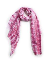 Michael Stars | Pink Shibori Stripe Wrap | Lyst