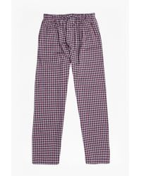 French Connection | Purple Metal Core Check Lounge Pants for Men | Lyst