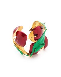 Erickson Beamon - Green Cherry Pie Cuff Bracelet - Lyst