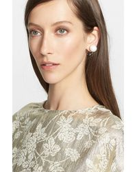 Stella McCartney | White Stud Earring | Lyst