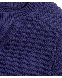 H&M - Blue Pattern-knit Jumper - Lyst