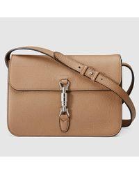 Gucci - Natural Jackie Soft Leather Shoulder Bag - Lyst