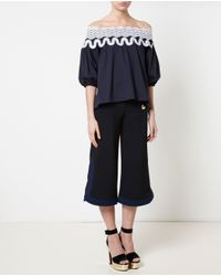 Peter Pilotto | Black Embellished Crepe Caddy Trousers | Lyst