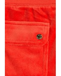 Juicy Couture - Bling Velour Track Pants - Red - Lyst