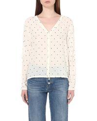 Maje - White Cedana Perforated Shirt - Lyst