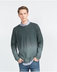 Zara | Green Structured Degradé Sweater for Men | Lyst