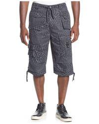 Sean John - Gray Printed Army Flight Shorts for Men - Lyst