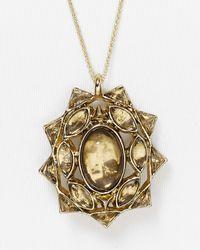 House of Harlow 1960 - Metallic Sea Stones Pendant Necklace 26 - Lyst