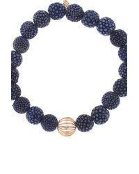 Sydney Evan | Blue Stingray Bezel Bead Bracelet | Lyst