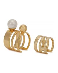 Joomi Lim - Metallic 16kt Gold-plated Rings - Set Of Two - Lyst