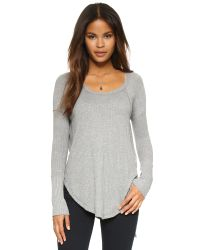 Free People | Gray Drippy Yarn Ventura Thermal | Lyst