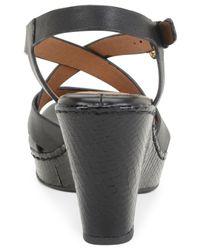 Söfft   Black Vivien Platform Wedge Sandals   Lyst
