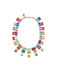 Pink Pony | Multicolor Swarovski Triple-drop Necklace | Lyst