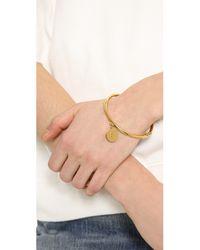 kate spade new york | Metallic Charm Letter Bangle Bracelet | Lyst