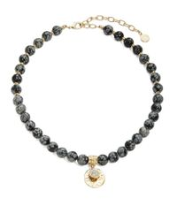 R.j. Graziano | Gray Semi-precious Beaded Stretch Necklace | Lyst