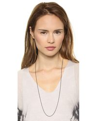 Monica Rich Kosann - Steel Delicate Cable Chain Necklace - Black - Lyst