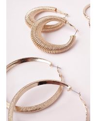 Missguided - Metallic Multi Pack Hoops Gold - Lyst