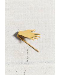 Urban Outfitters - Metallic Hello Hand Ear Climber Earring - Lyst