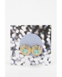 Urban Outfitters - Metallic Sculpted Gemstone Gift Card Earring - Lyst