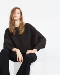 Zara | Gray Batwing Sweater | Lyst