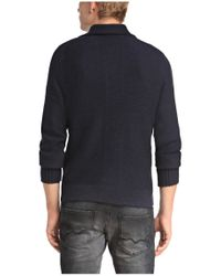 BOSS Orange - Blue Cardigan 'kamaren' In Knitwear for Men - Lyst