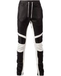 Balmain - Black Biker Track Trousers for Men - Lyst