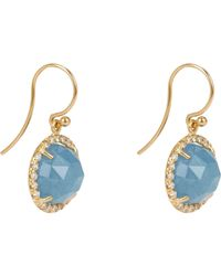 Irene Neuwirth | Blue Gemstone Double-drop Earrings | Lyst