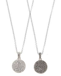 Judith Jack | Metallic Two Sided Marcasite Disc Necklace | Lyst