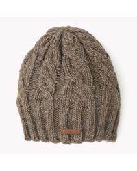 Tommy Hilfiger | Natural Wool Blend Beanie | Lyst