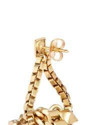 Ela Stone - Metallic 'patti' Knot Box Chain Drop Earrings - Lyst