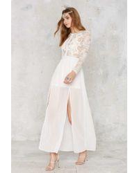 Nasty Gal - White Applique Mystique Lace Dress - Lyst
