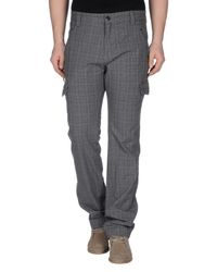 GAUDI - Gray Casual Pants for Men - Lyst