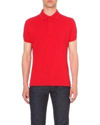 Armani Jeans - Red Slim-fit Cotton-piqué Polo Shirt for Men - Lyst
