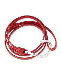 Miansai - Red Hook Leather Bracelet - Lyst