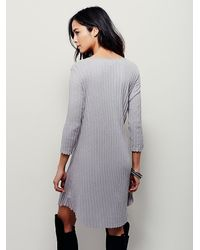 Free People - Gray Fp Beach Womens Kickin It Dress - Lyst