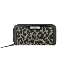 Nine West - Black Glitter Mob Zip Around Wallet - Lyst