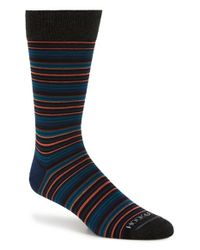 Hook + Albert | Red 'gray' Multi Stripe Socks for Men | Lyst