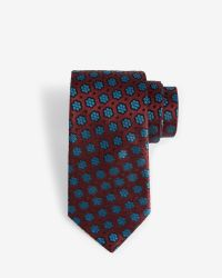 Ted Baker - Red Floral 7cm Tie for Men - Lyst
