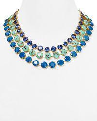 """ABS By Allen Schwartz - Blue Multi Strand Necklace, 17"""" - Lyst"""